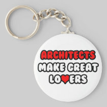 Architects Make Great Lovers Basic Round Button Keychain