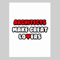 Architects Make Great Lovers Post Cards
