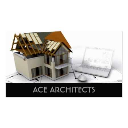 Scale Model House Architect Business Cards