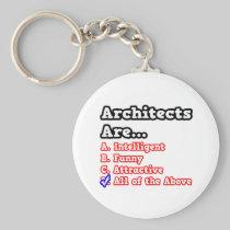 Architects Quiz...Joke Basic Round Button Keychain