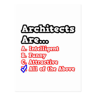 Architects Quiz...Joke Postcard