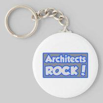 Architects Rock! Basic Round Button Keychain