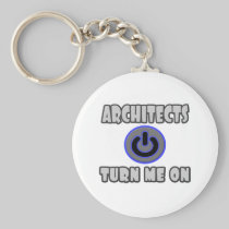 Architects Turn Me On Basic Round Button Keychain