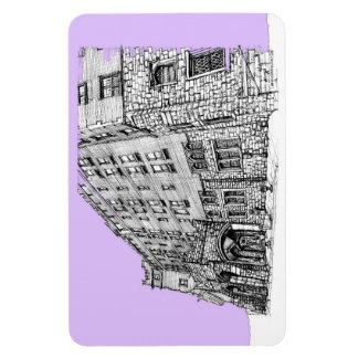 Architectture en lila imán flexible