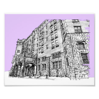 Architectture en lila impresión fotográfica
