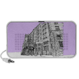 Architectture en lila portátil altavoces