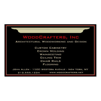 Architectural and Custom Carpentry Business Card Template