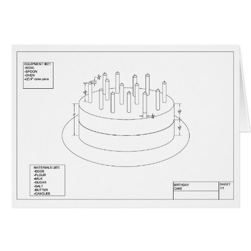 Architectural Birthday Cake Greeting Card Zazzle
