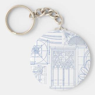 Architectural Blueprints Keychain