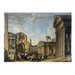 Architectural Capriccio by Giovanni Paolo Panini Postcard