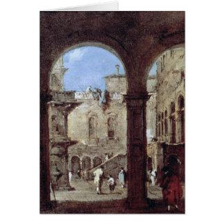 Architectural Capriccio, c.1770 Card