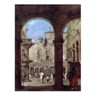 Architectural Capriccio, c.1770 Postcard