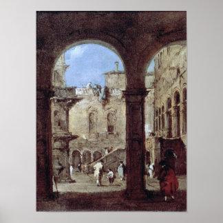 Architectural Capriccio, c.1770 Poster