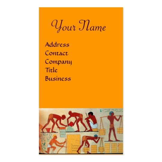 ARCHITECTURAL CONSTRUCTION red yellow orange Business Card