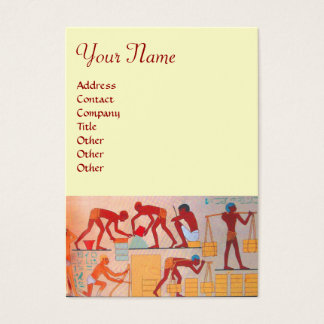 ARCHITECTURAL CONSTRUCTION white red yellow Business Card