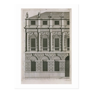 Architectural design demonstrating Palladian propo Postcard