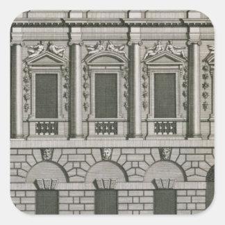 Architectural design demonstrating Palladian propo Square Sticker