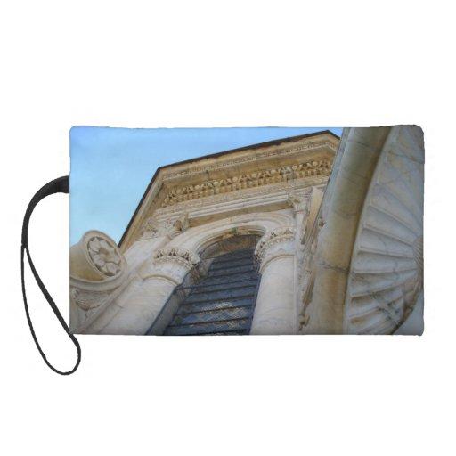 Architectural Detail Atop the Duomo Bag Choice Wristlet Purse