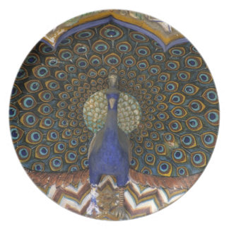 Architectural detail of Peacock Gate Dinner Plate