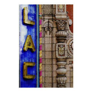 Architectural Detail: Palace Theater Marquee Poster