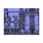 Architectural detail stretched canvas print