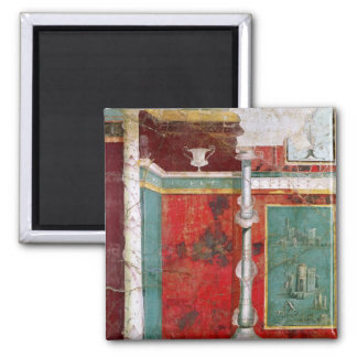 Architectural detail with a landscape 2 inch square magnet