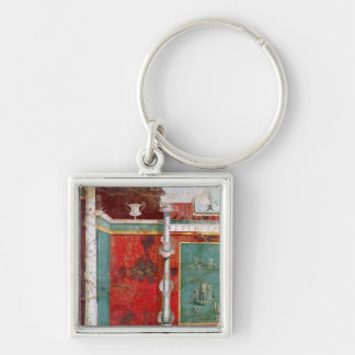 Architectural detail with a landscape keychain