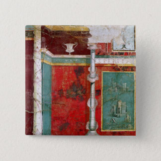 Architectural detail with a landscape pinback button