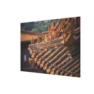 Architectural details in the Forbidden City, Canvas Print