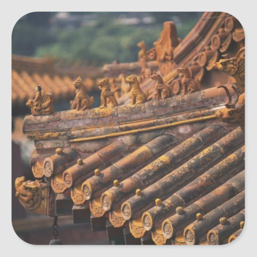 Architectural details in the Forbidden City, Square Sticker