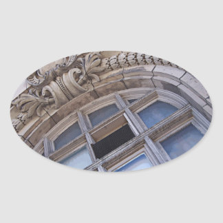 Architectural Elements Oval Sticker