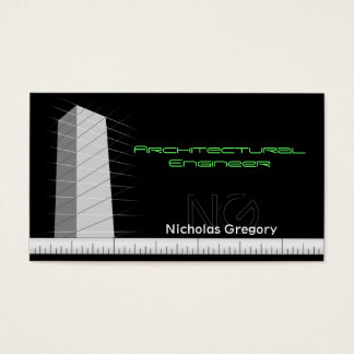 Architectural Engineering Black Business Cards