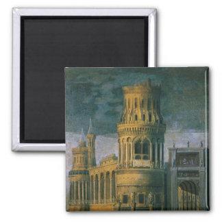 Architectural fantasy 2 inch square magnet