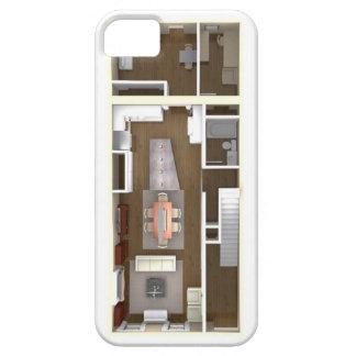 Architectural floor plan phone case