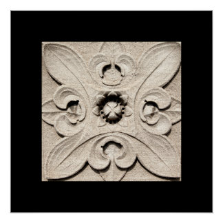 Architectural Floral Poster