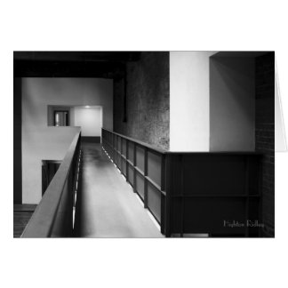 Architectural Fugue blank notelet / card