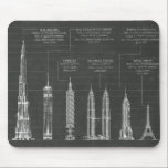 "Architectural Heights Mouse Pad<br><div class=""desc"">This blueprint style design has been brought to you by World Art Group. Featuring a futuristic sketch of several skyscrapers and high rise buildings, this modern architectural piece was originally created by contemporary artist Ethan Harper. Lovers of trendy, present day art will love the symmetry of this schematic print. Ethan...</div>"