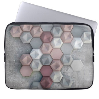 Architectural Hexagons Laptop Sleeve 13 inch