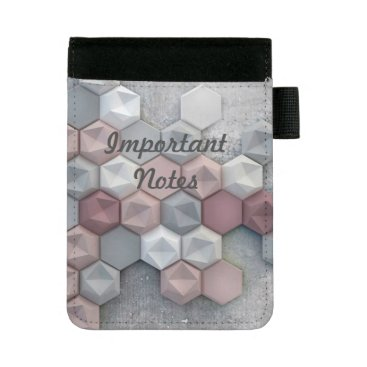Professional Business Architectural Hexagons Mini Padfolio