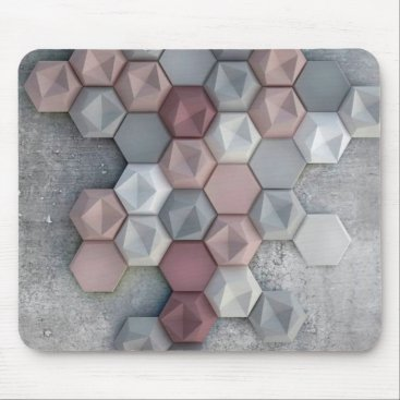 Professional Business Architectural Hexagons Mousepad (Rectangular)