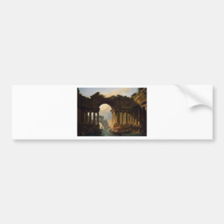 Architectural Landscape with a Canal by Hubert Car Bumper Sticker