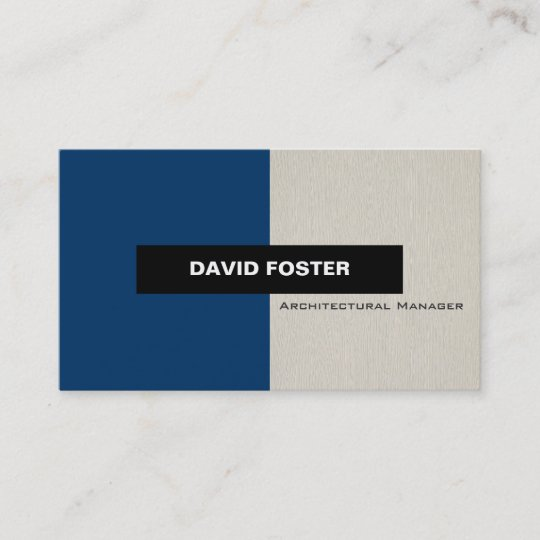 architectural manager simple elegant stylish business card