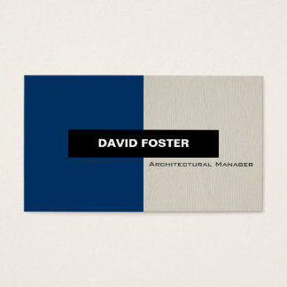 Architectural Manager - Simple Elegant Stylish Business Card