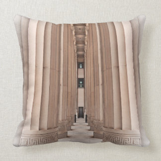 Architectural Pathway of Pillars Pillow