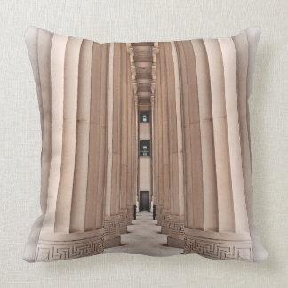 Architectural Pathway of Pillars Throw Pillow