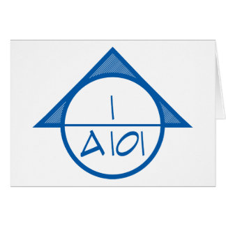 Architectural Reference Symbol Greeting Card (blu)