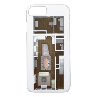 Architectural Rendered Floor Plan iPhone 8/7 Case