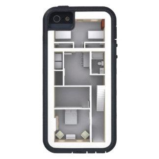 Architectural rendered floor plan phone case