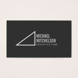 Architectural Right Angle Gray/White Professional Business Card