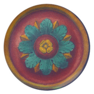 Architectural Rosette No. 5 Party Plate